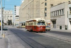 Here in Toronto, we're known for our streetcars. This one's an older shot via Streetcar History TTC.