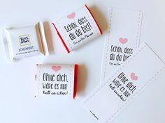 Gastgeschenke - Gastgeschenk 50 Schokoladenbanderolen - ein Designerstück von Be-nice-4-you bei DaWanda