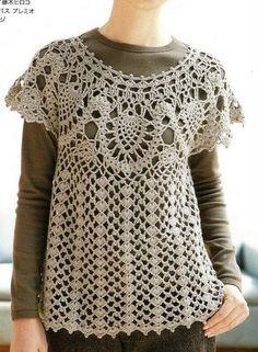 #Lots of Inspiration: Love the Tunic (not in English)  Crochet Jacket #2dayslook #CrochetfashionJacket  www.2dayslook.com