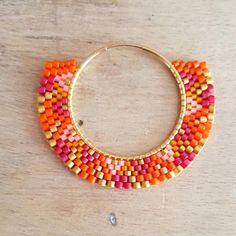 beaded earrings to make Beaded Rings, Beaded Jewelry, Handmade Jewelry, Beaded Bracelets, Brick Stitch Earrings, Seed Bead Earrings, Hoop Earrings, Miyuki Beads, Beaded Earrings Patterns