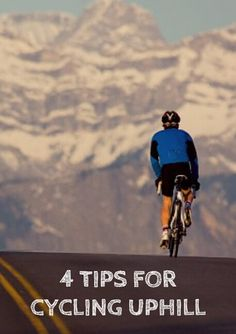 "Challenging terrain is what cycling is all about. Unless you are a born and reared, stay-at-home flatlander you are no doubt aware of the effects of gravity and the need to become a better, more efficient climber. Getting better at cycling uphill requires improvements in both strength-to-weight ratio and technical skill. Click to find ""4 Tips for Cycling Uphill"" - http://www.active.com/cycling/articles/4-tips-for-cycling-uphill"