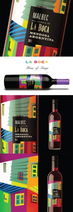 Wine Packaging | Packaging Botellas de vino | La Boca wine labels