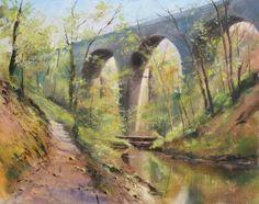 Cheedale Derbyshire (oil) Geoff kersey