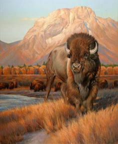 """Greeting the Dawn"" by Edward Aldrich is this year's Jackson Hole Fall Arts Festival official painting."