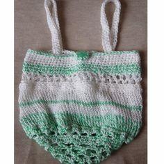 Mini Eco Shopper! Hand Crocheted & Knitted Handbag.