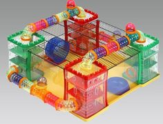 Puchi plastic large hamster cage. There are other cool cages inside of this pin, but remember that hamsters can chew through plastic.