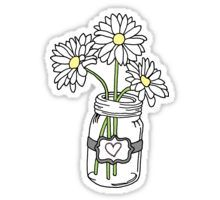 Mason Jar with Sunflowers Sticker