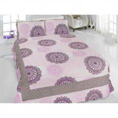 Double Sided Bedspread in Multicolor