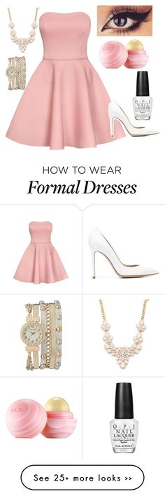 """Formal Event"" by live-like-you-are-dying on Polyvore featuring Gianvito Rossi, Forever 21, maurices, Eos and OPI"