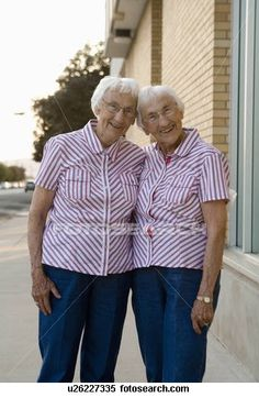 85 year old twins..Vanessa this will be you and Sarah!:)