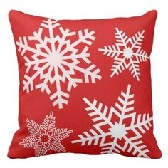 All throw pillows on our site 30% off all weekend: Use this code at checkout: CRAZYWEEKEND Red White Snow Pattern Winter Christmas Pillows