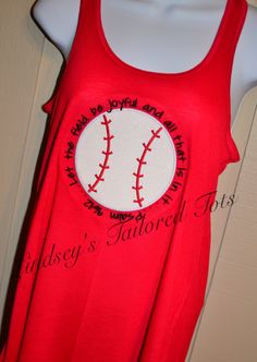 Women's Baseball field verse tank  by MonogrammingTrends on Etsy, $38.00