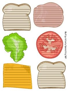 Sandwich Paragraph Writing - Great for teaching essays, each piece of the sandwich represents a different part of the essay or story. (Maybe I'm just picky, but it looks like 6 paragraphs to me. Writing Strategies, Writing Lessons, Teaching Writing, Writing Activities, Writing Skills, Teaching English, Comprehension Activities, Writing Ideas, Paragraph Writing