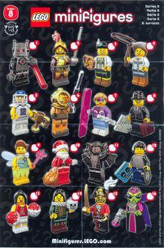 #lego minifigures series 8