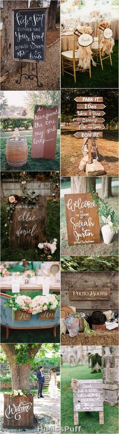 100 Clever Wedding Signs Your Guests Will Get A Kick Out Of / http://www.himisspuff.com/rustic-wedding-signs-ideas/