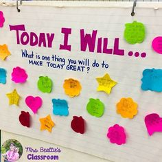 Setting the tone - writing goals to start the school day.
