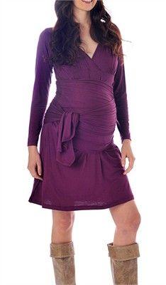 wrap around maternity dress