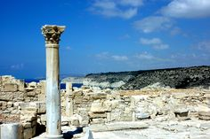 The ancient city of Kourion in Cyprus features ruins, mosaics and an amazing amphitheater, all overlooking the beautiful Mediterranean coast by Beverley Klein