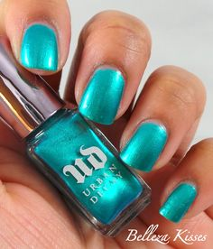 Urban Decay - Deep End nail | Got back on 3/14/2014 at Ulta. Looks teal in the picture (found on Google), but is more of an emerald green. Gorgeous color, but chips ridiculously easy.