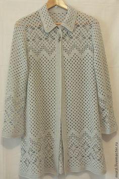 Crochet Collar Pattern, Gilet Crochet, Crochet Coat, Crochet Cardigan, Crochet Clothes, Crochet With Cotton Yarn, Crochet Summer Dresses, Lace Knitting Patterns, Fashion Pants