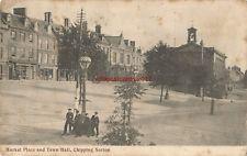 Oxon Chipping Norton Market Place & Town Hall 1908 Vintage Postcard