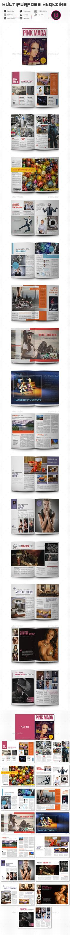Multipurpose Magazine #indd idml magazine #multipurpose magazine Download : https://graphicriver.net/item/multipurpose-magazine/14035548?ref=pxcr