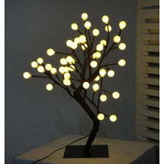 Creative Motion Desktop Ball Tree Table Lamp with 48 Piece LED Lights from Wayfair. Saved to Illuminants. Chandelier Art, Bubble Chandelier, Tree Lighting, Unique Lighting, Industrial Led Lighting, Interior Led Lights, Led Tree, Tree Lamp, Tree Centerpieces