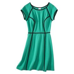 Xhilaration® Juniors Fit & Flare Knit Dress with Contrast Piping - Assorted Colors Knit Dress, Dress Skirt, Dress Up, Cute Dresses, Casual Dresses, Cool Style, My Style, Target Style, Kinds Of Clothes