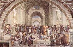 La escuela de Atenas, pintada por Rafael.