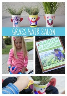 Toddler Approved!: Make Your Own Grass Hair Salon from The Garden Classroom Book