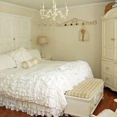 #shabby #white #bedroom