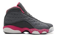04ce930a4622 Girls Air Jordan 13 Retro Cool Grey Fusion Pink-White For Sale Hot