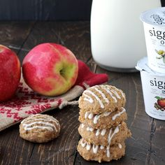 Spiced Apple Quinoa Skyr Cookies with Vanilla Maple Drizzle   The Foodie Physician