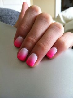 Pink ombré nails by S.Doherty