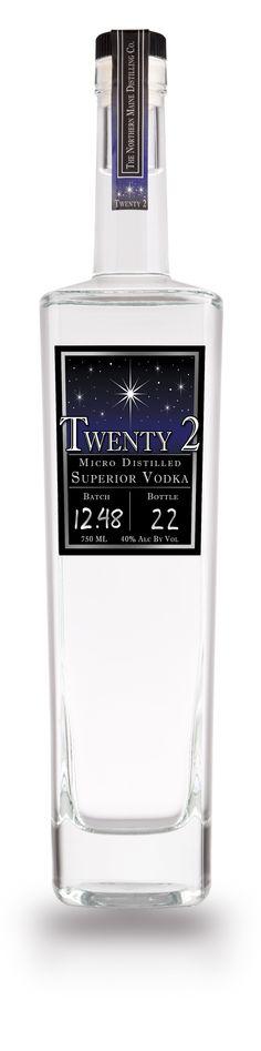 Twenty 2 Vodka Bottle Picture