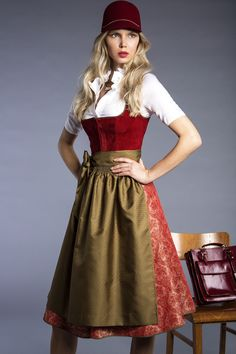 KINGA MATHE dirndl & trachten couture Fall/Winter 2016. Top 5 favorite dirndl designers.ludwigs.nl (Top 2016) Octoberfest Costume, Lederhosen Costume, Countryside Fashion, Fall Winter 2016, Costume Patterns, Womens Closet, Retro Outfits, Oktoberfest Outfit, Dirndl Dress