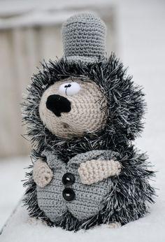 Crochet PATTERN hedgehog by magicfilament on Etsy