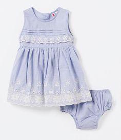 6c84fc3cfa Vestido Infantil com Renda - Tam 0 a 18 meses - Lojas Renner