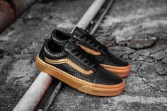 vans classic five-star hollow breathable black gold low to help 35-44 models FS05115 #Vans