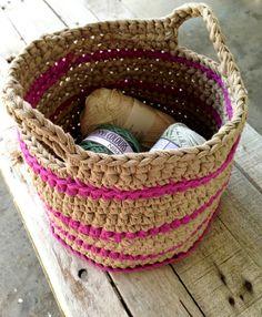 T-Yarn, T-yarn basket, project basket, crochet basket, crochet