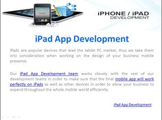 We built top-ranked iPad apps in all the sectors including but not limited to business, retail, shipping, financials, education, fitness, and health. Our iPad apps work perfectly for both iPads and mini iPads. http://www.esprit.co.in/services/ipad-app-development/