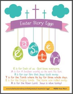 Free Easter Story Eggs: New Printable for All Ages