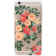 Rifle Paper Peach Blossom iPhone case ($38) ❤ liked on Polyvore featuring accessories, tech accessories, phone cases, phone, case, tech, iphone cases, apple iphone case, iphone cover case and flower iphone case