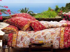 Bassetti Bettwäsche Zancle V1  100% Mako-Satin Baumwolle hervorragendes Schlafklima Reißverschluss 60 Grad waschbar   Mako Satin, Official Store, Comforters, Blanket, Red, Cotton, Creature Comforts, Quilts, Blankets