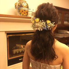インスタで人気の可愛いハーフアップのブライダルヘアアレンジ   marry[マリー]