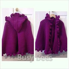 Ruffled Hooded Shawl by BusyBeesClothing on Etsy, $90.00