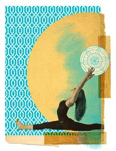 I love this series of yoga collages by Gregory Ryan Klein.