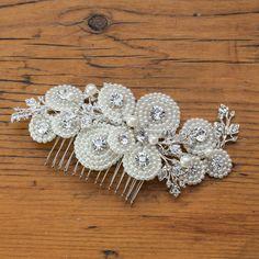 amelia crystal and pearl hair comb by anusha | notonthehighstreet.com