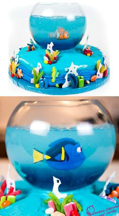 How to make a Finding Dory Cake (Finding Nemo Cake) ~ Full tutorial video…