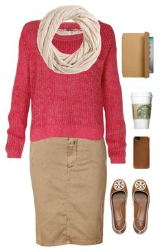 """""""Morning Starbucks Run ♡"""" by foreveryoux ❤ liked on Polyvore featuring Tory Burch, Closed, Free People, J.Crew and Coach"""